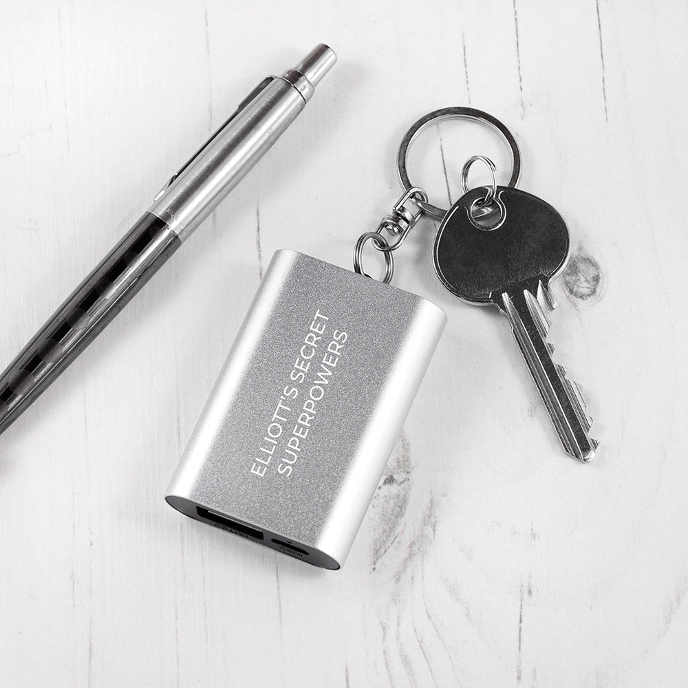 Personalised Miniature Powerbank Keyring