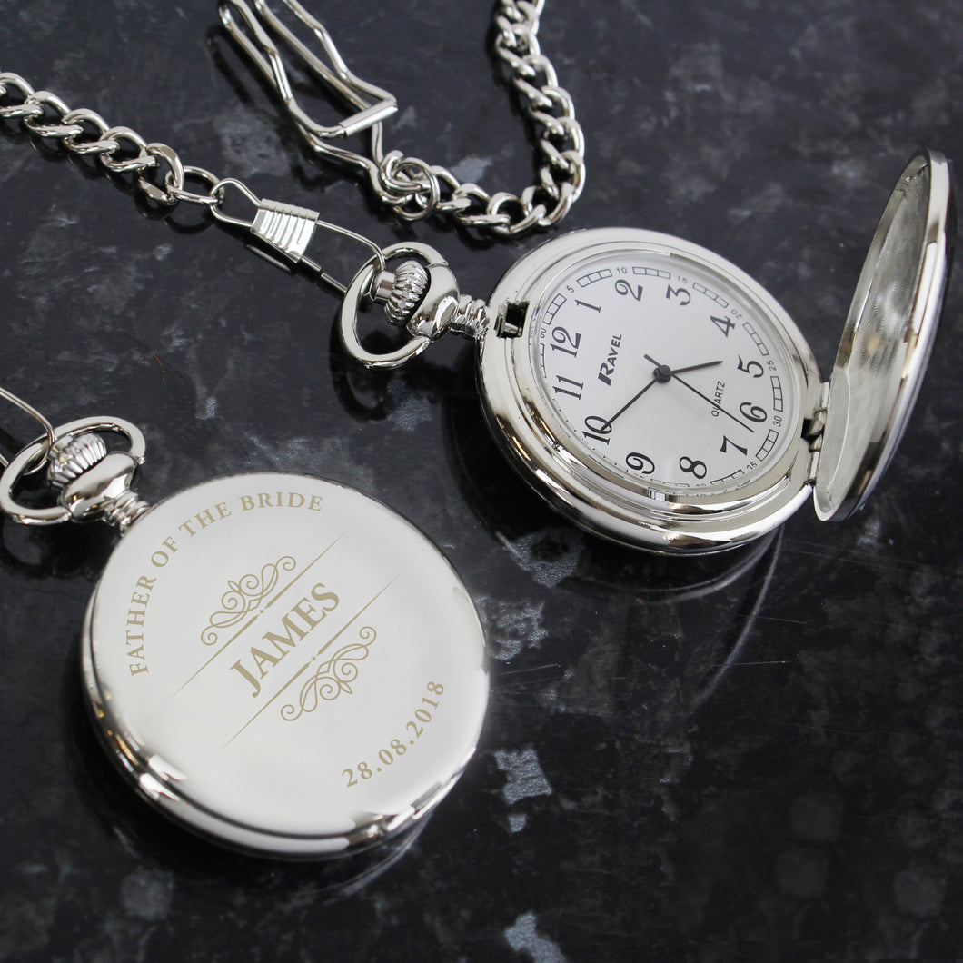 Personalised Father Of The Bride Classic Pocket Watch