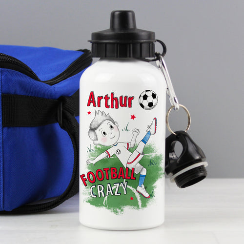 Personalised Football Crazy Drink / Water Bottle