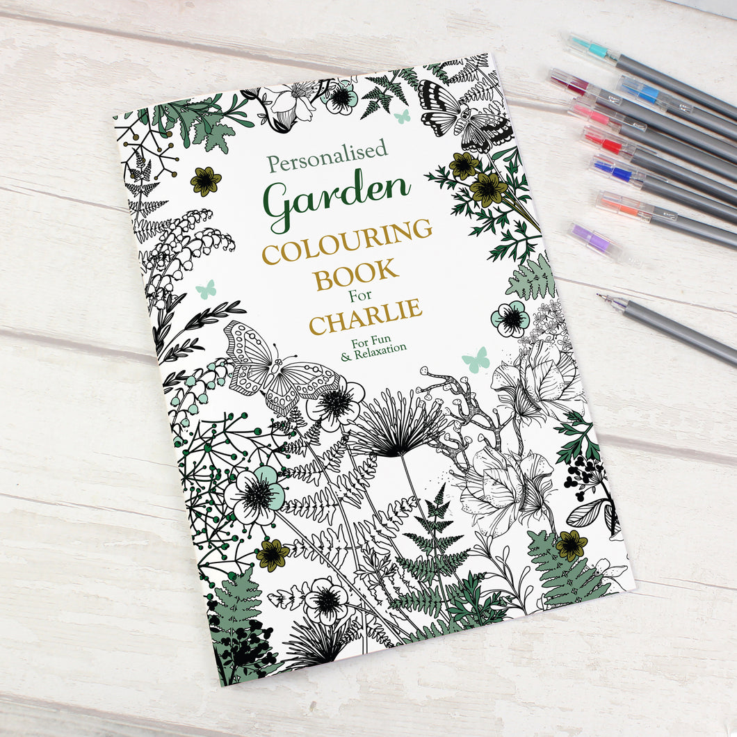 Personalised Garden Themed Colouring Book