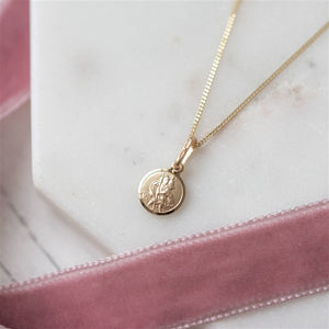 Gold St. Christopher Necklace In Personalised Gift Box