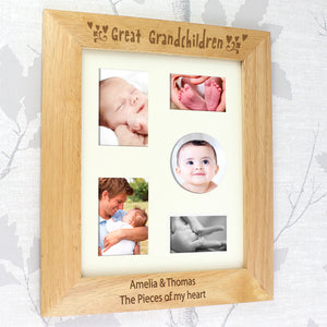 Personalised Great Grandchildren Wooden Photo Frame
