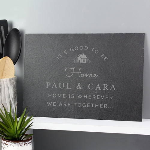 Personalised Home Is... Decorative Slate