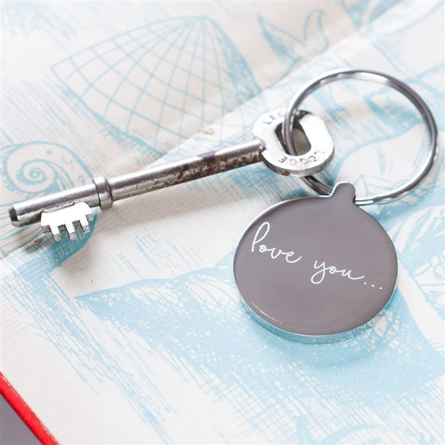 Personalised Love You Metal Keyring