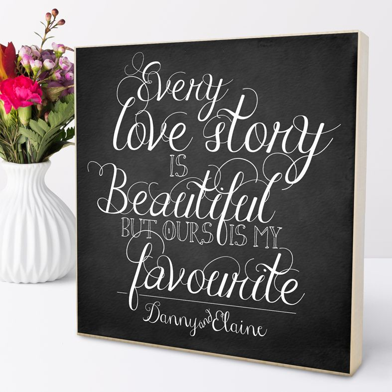Personalised Love Story Picture Block