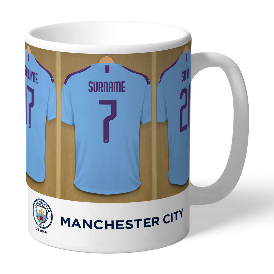 Personalised Manchester City FC Dressing Room Mug