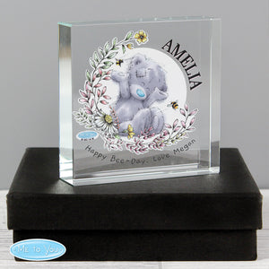 Personalised Me To You Glass Keepsake Token