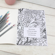 Load image into Gallery viewer, Personalised Garden Themed Colouring Book