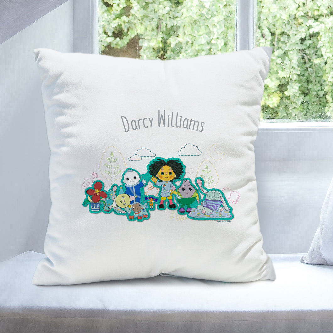 Personalised Moon And Me White Cushion