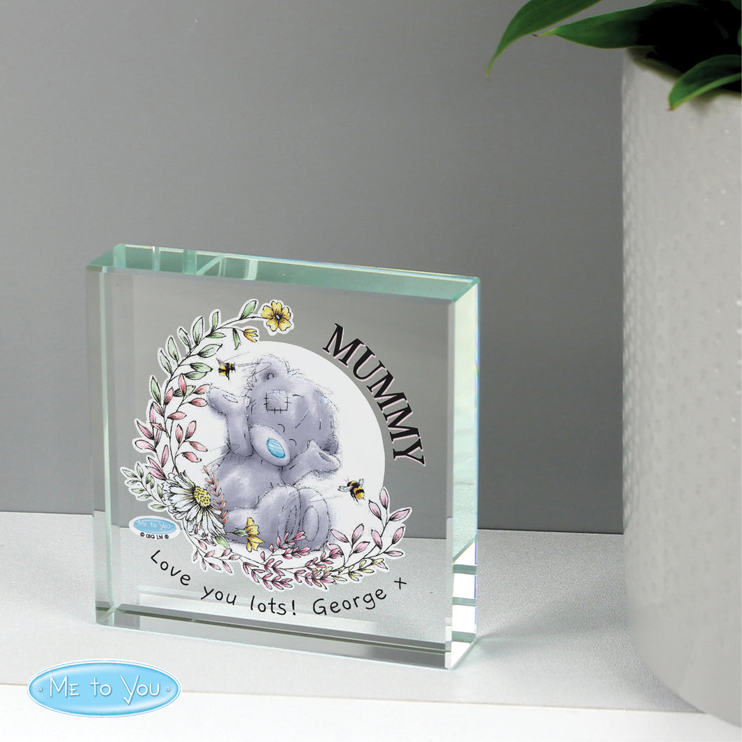 Personalised Me To You Glass Mother's Day Keepsake Token
