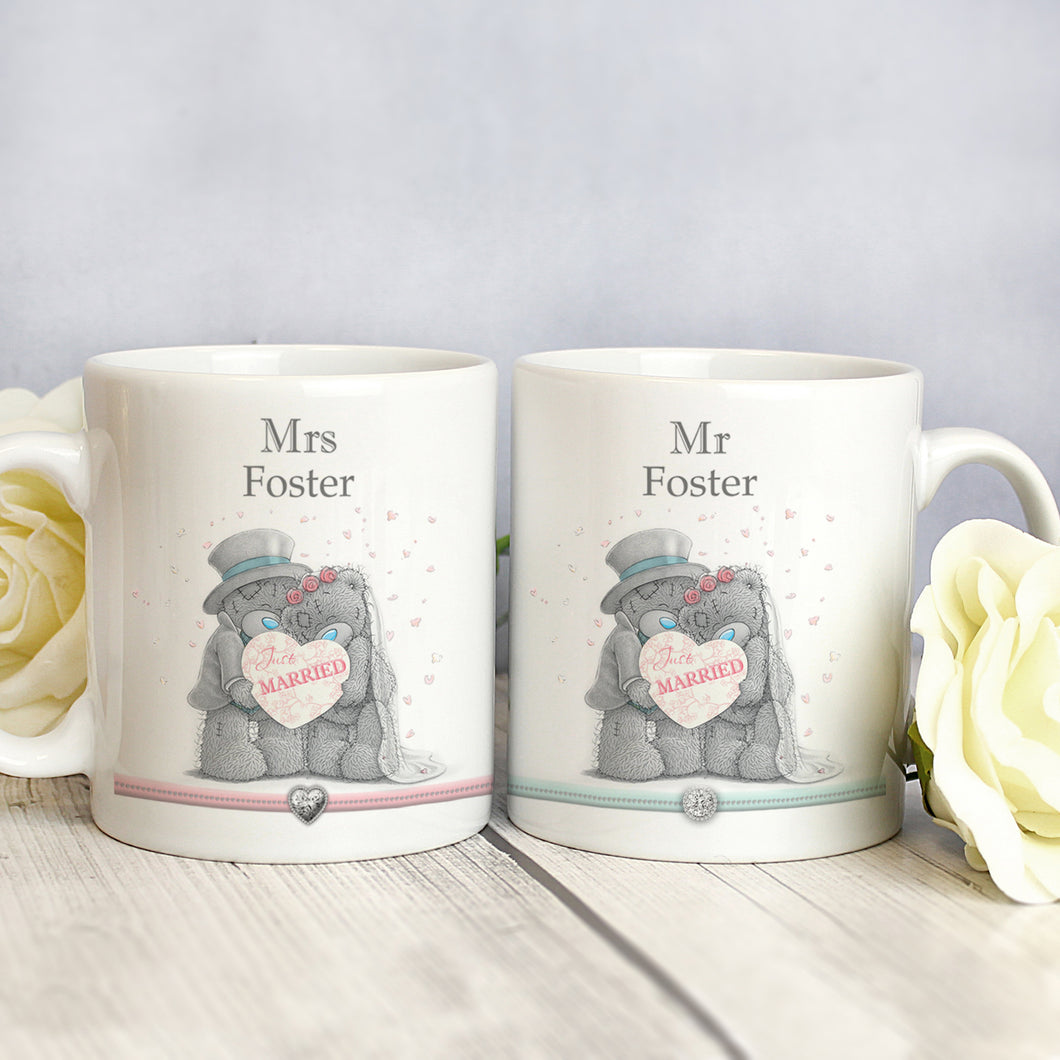 Personalised Me To You Just Married Mug Set