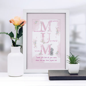 Personalised Me To You Mum Framed Print