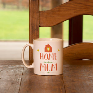 Personalised Home Is Where Mum Is Mug