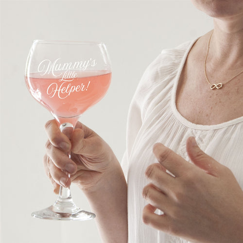 Mummy's Little Helper Crystal Balloon Gin Glass