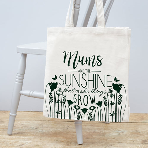 Mums Are The Sunshine Cotton Canvas Bag