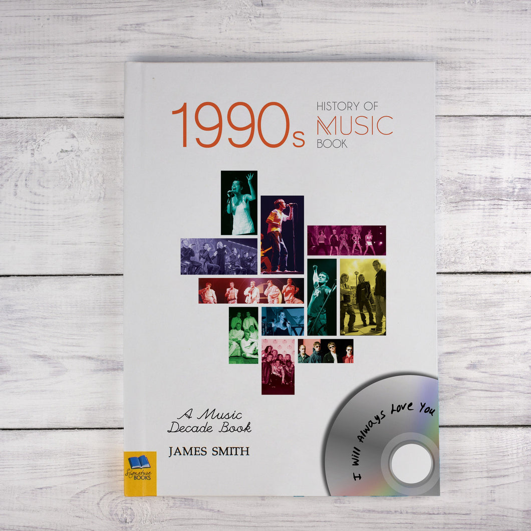 Personalised 1990s A History Of Music Book