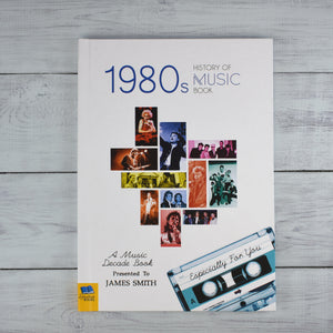 Personalised 1980s A History Of Music Book