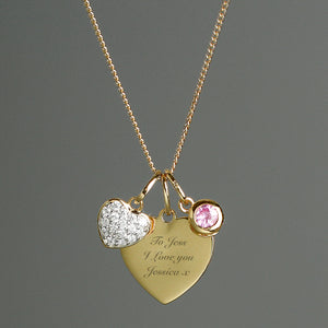 Personalised Gold Plated Heart Necklace