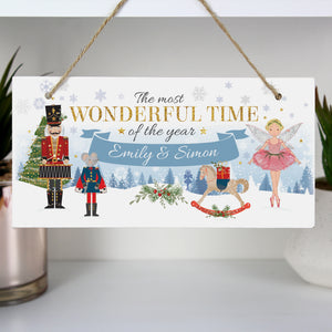 Personalised Nutcracker Hanging Wooden Sign