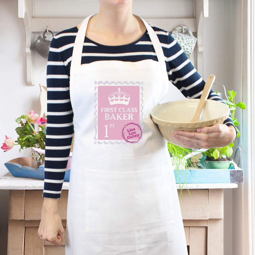 Personalised First Class Baker Kitchen Apron