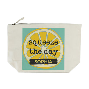 Personalised Squeeze The Day Make Up Bag