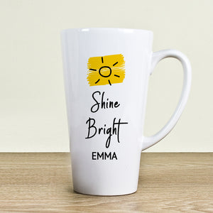 Personalised Shine Bright Latte Mug