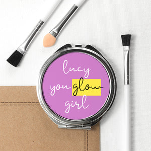 Personalised You Glow Girl Compact Mirror