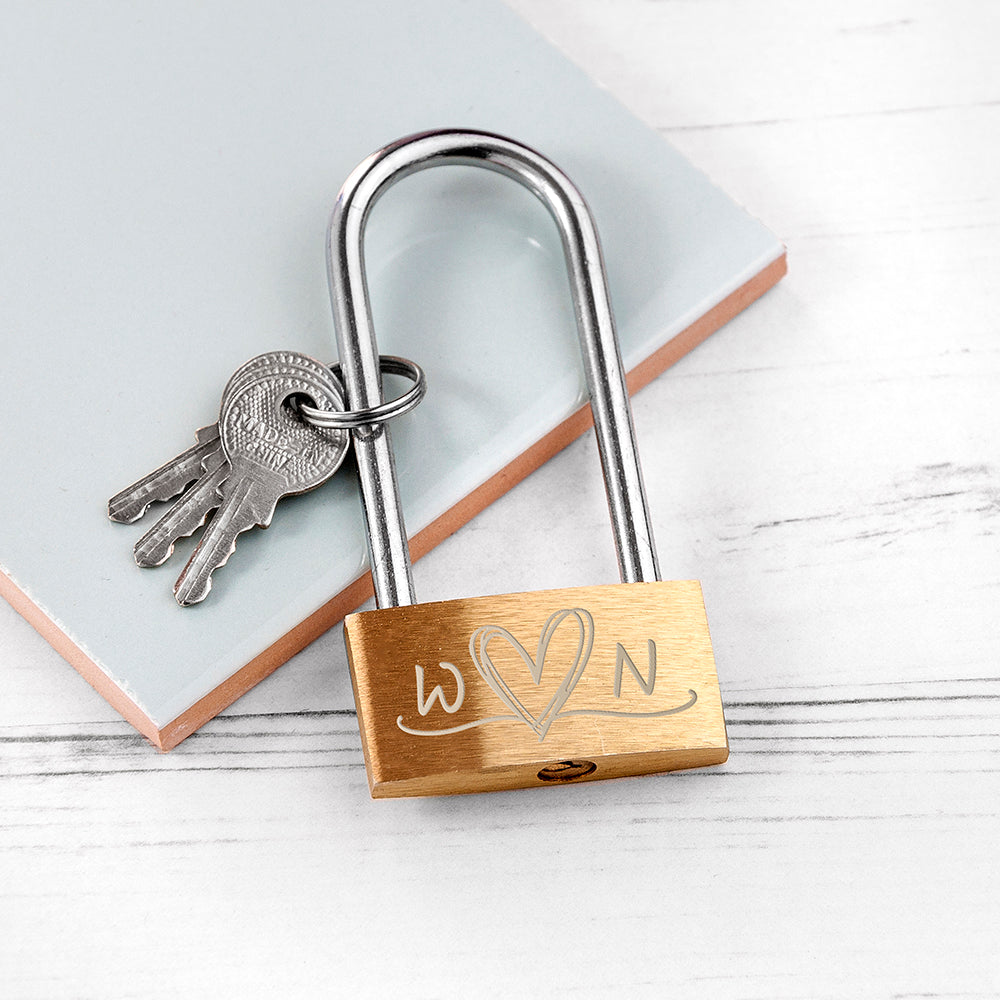 Personalised Couple's Padlock