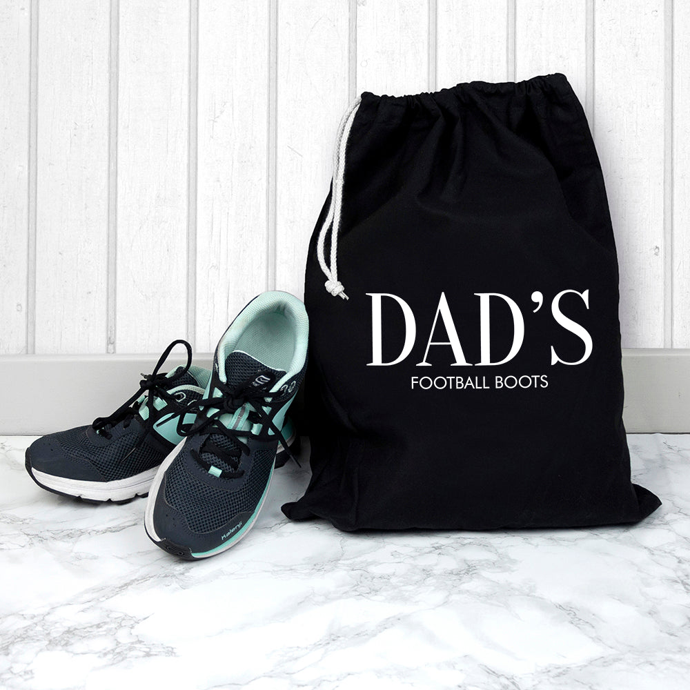 Dad's Football Boots Drawstring Bag