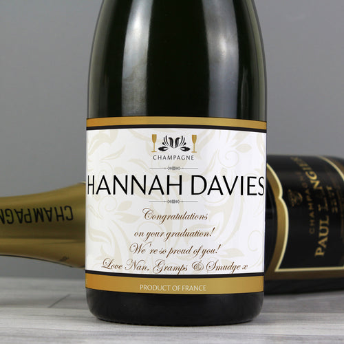 Personalised Label Champagne