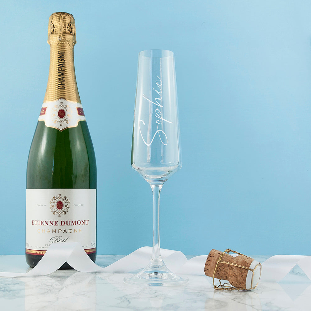 Personalised Elegant Champagne Flute