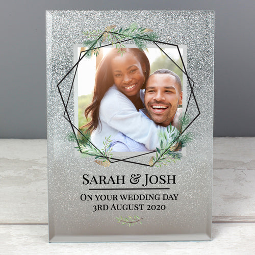 Personalised Glitter Photo Frame