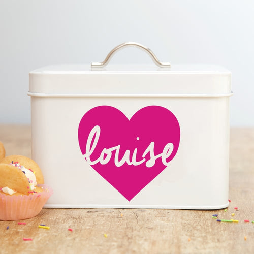 Personalised Heart Design Storage Tin