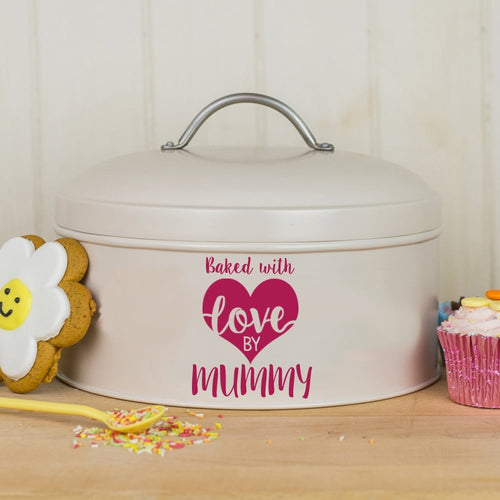 Personalised Baked With Love By Cake Tin