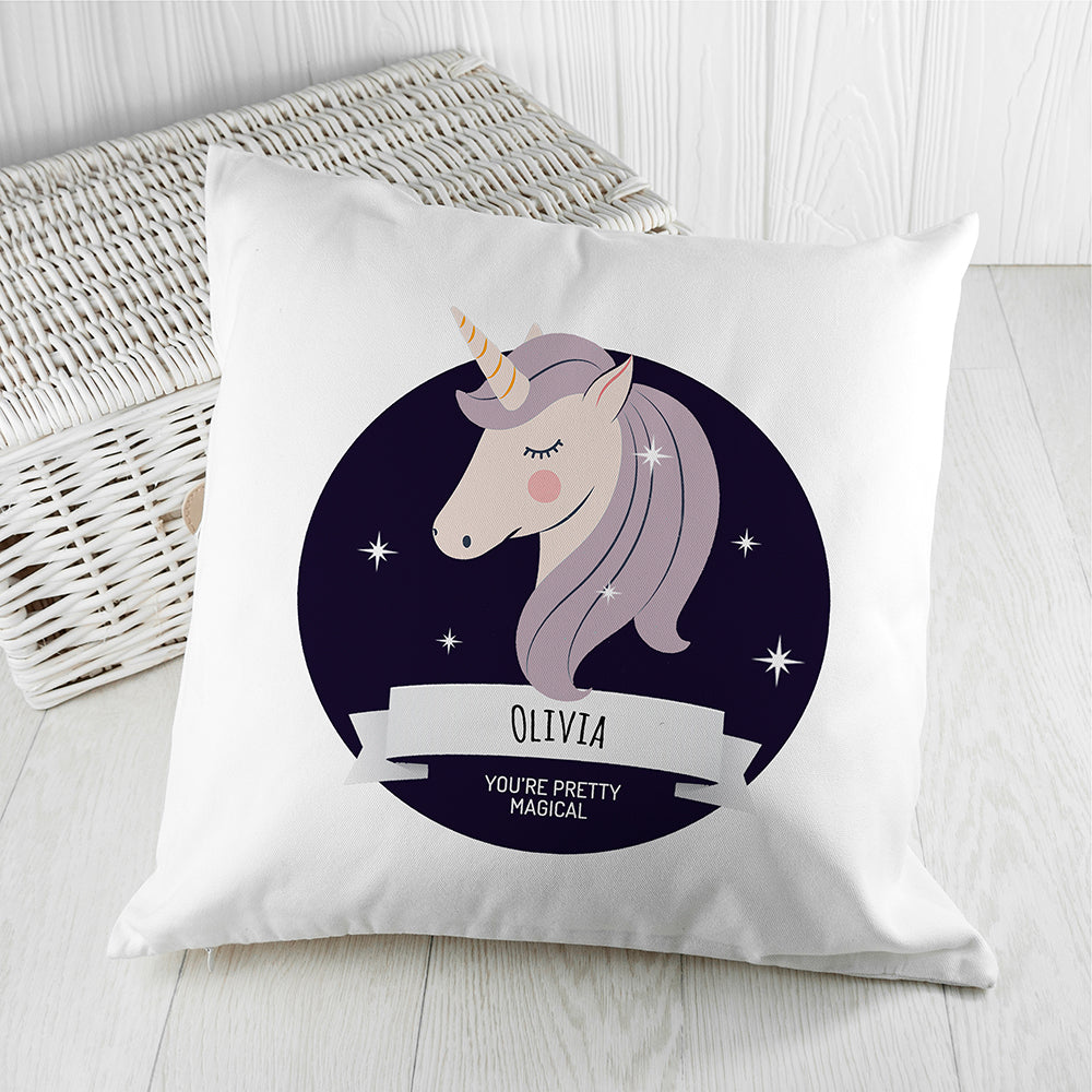 Personalised Magical Unicorn Cushion Cover