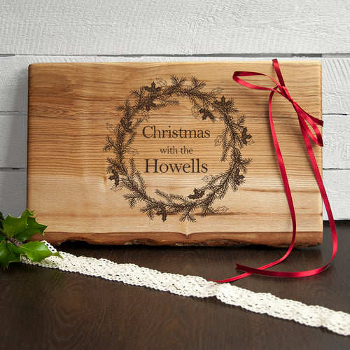 Personalised Welsh Ash Large Christmas Serving / Chopping Board