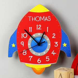 Personalised Space Rocket Wall Clock