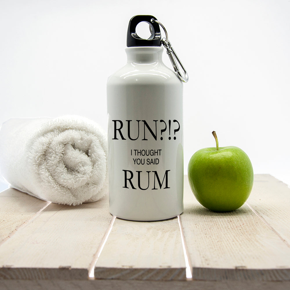 Personalised Run?!? I Thought You Said Rum Aluminium Water Bottle