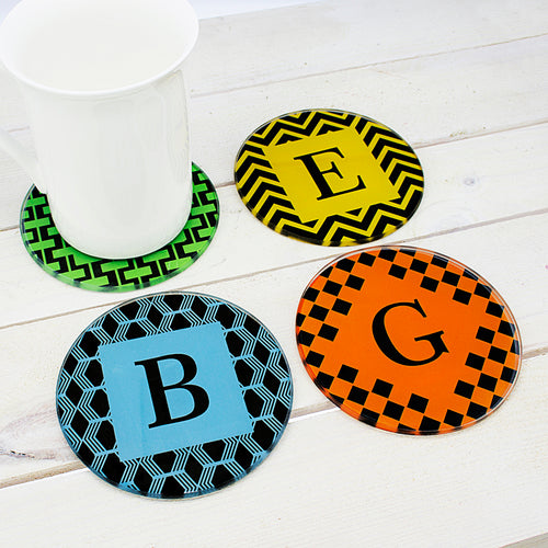 Personalised Round Glass Coasters - Set Of 4