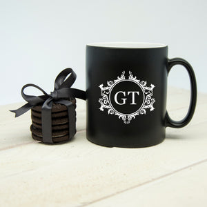 Personalised Black Matt Mug