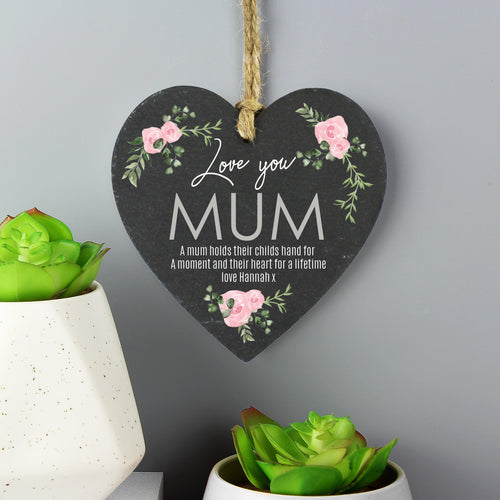 Personalised Love You Hanging Slate Sign