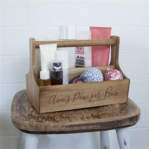 Personalised Wooden Spa Caddy