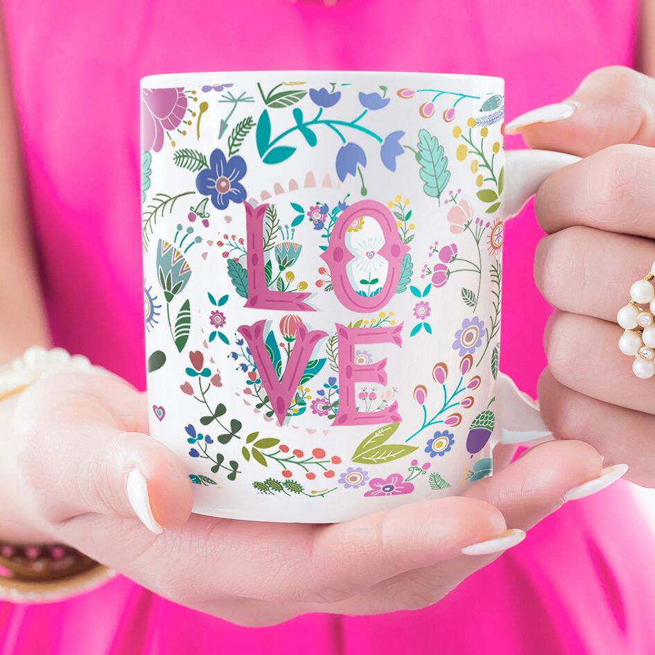 Personalised Summer Of Love Ceramic Mug