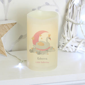 Personalised Swan Lake Nightlight LED Candle