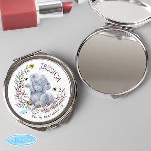 Personalised Me To You Bees & Flowers Compact Mirror