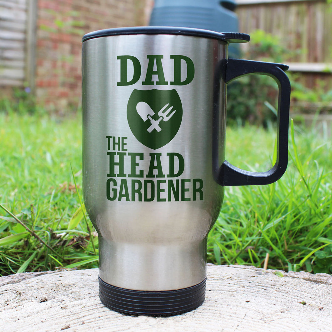 Personalised Head Gardener Outdoor / Travel Mug