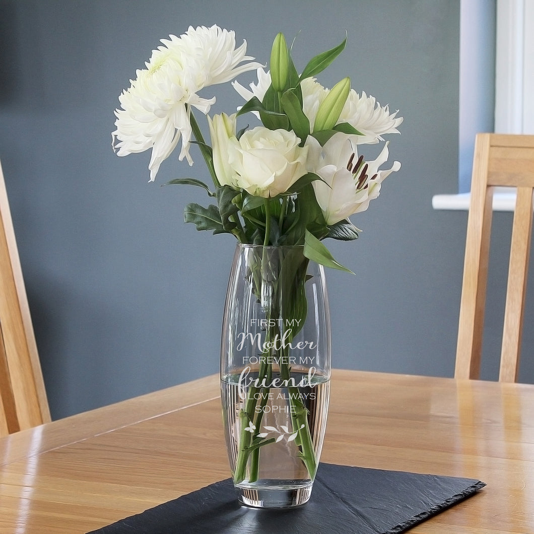 Personalised 'First My Mother, Forever My Friend' Bullet Vase