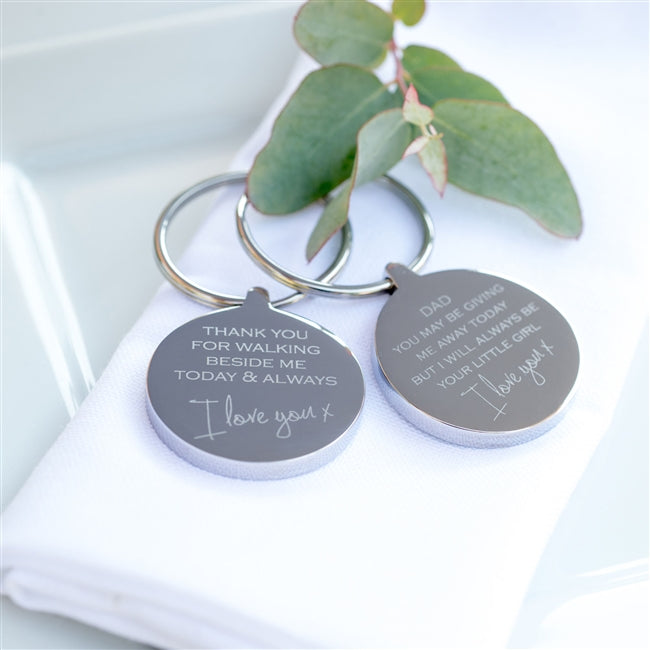 Personalised Walking Me Down The Aisle Keyring
