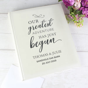 Personalised Our Greatest Adventure Traditional Wedding Photo Album