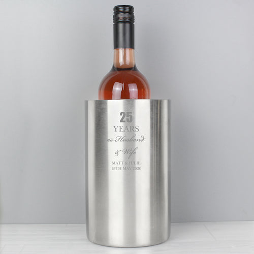 Personalised Anniversary Stainless Steel Wine Cooler
